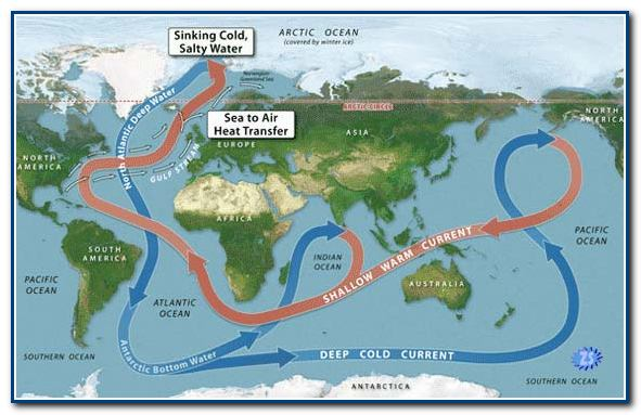 фото океаны на карте